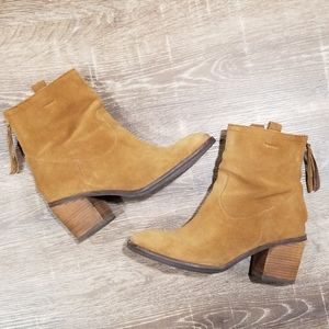Sam Edelman Farrell brown suede ankle boots 6.5